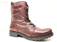 Laced highboot bordo